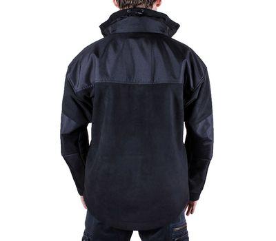 Куртка Штурм, чёрная - мембрана, флис, кордура, фото 4