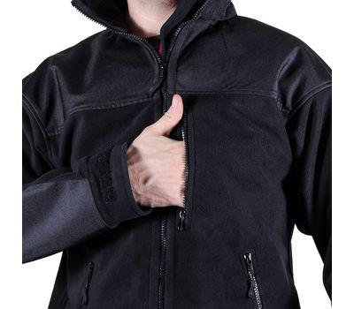 Куртка Штурм, чёрная - мембрана, флис, кордура, фото 5