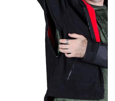 Куртка Штурм, чёрная - мембрана, флис, кордура, фото 6