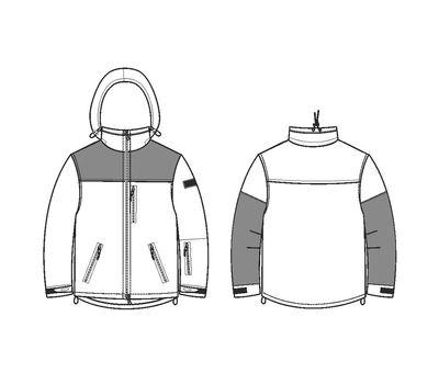Куртка Штурм, чёрная - мембрана, флис, кордура, фото 9