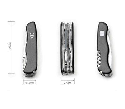 Швейцарский нож Victorinox Workchamp 0.9064.3, чёрный
