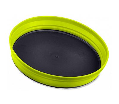 Складная силиконовая тарелка с жестким дном Sea to Summit X-Plate Lime, фото 1