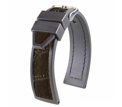 Ремешок на часы кожа / каучук №123, 20 мм, фото 2