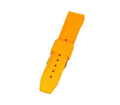 Ремешок для часов каучуковый №130, 22 мм, оранжевый, фото 2