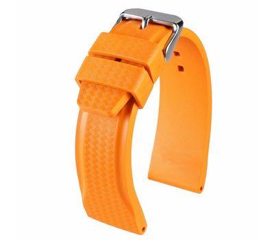 Ремешок для часов каучуковый №130, 22 мм, оранжевый, фото 3