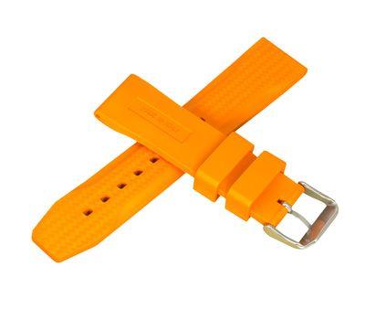 Ремешок для часов каучуковый №130, 22 мм, оранжевый, фото 4