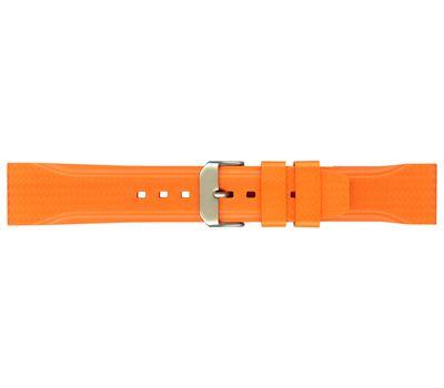Ремешок для часов каучуковый №130, 22 мм, оранжевый, фото 1