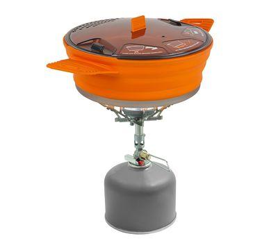 Складная силиконовая кастрюля с жестким дном Sea to Summit X-Pot 1.4 Orange, фото 2
