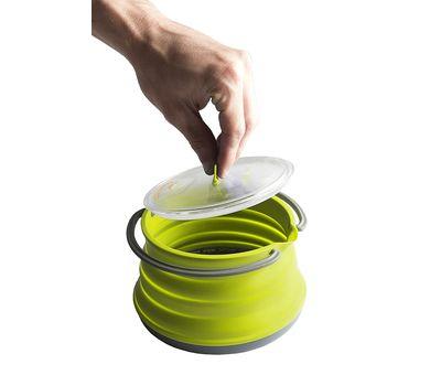 Складной силиконовый чайник с жестким дном Sea to Summit Xpot Kettle 1.3 L, фото 3