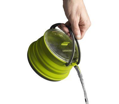 Складной силиконовый чайник с жестким дном Sea to Summit Xpot Kettle 1.3 L, фото 5