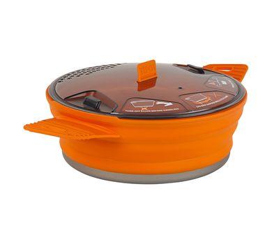 Складная силиконовая кастрюля с жестким дном Sea to Summit X-Pot 1.4 Orange, фото 1