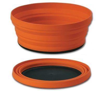 Складная силиконовая тарелка с жестким дном Sea to Summit X-Bowl Orange, фото 2