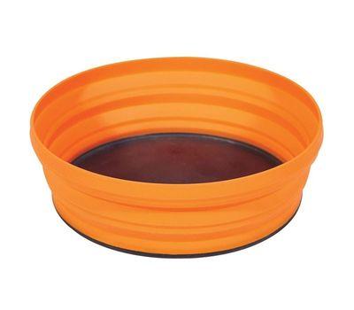 Складная силиконовая тарелка с жестким дном Sea to Summit X-Bowl Orange, фото 1