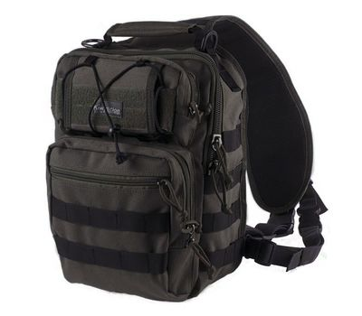 Однолямочный тактический рюкзак Kiwidition Matangi черный