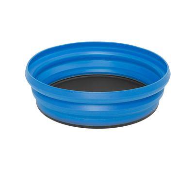 Складная силиконовая тарелка с жестким дном Sea to Summit X-Bowl Blue, фото 1