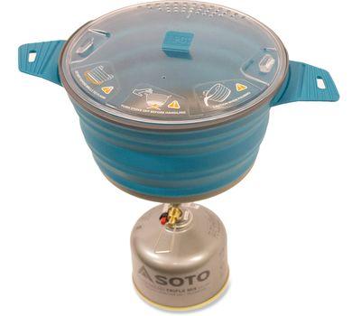 Складная силиконовая кастрюля с жестким дном Sea to Summit X-Pot 2.8L Pacific Blue, фото 3