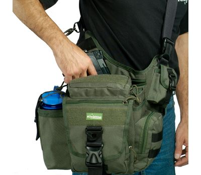 Наплечная сумка Kiwidition Takahe, чёрная