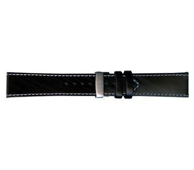 Кожаный ремешок черный Classic №70