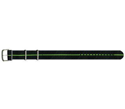 Текстильный ремешок чёрно зеленый №72