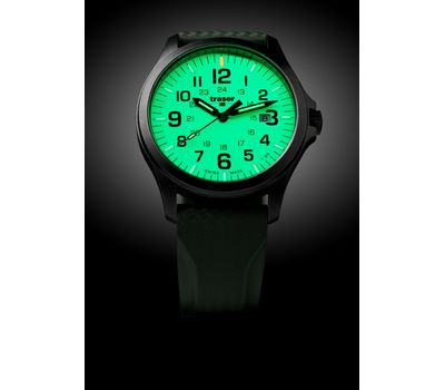 Часы Traser P67 Officer Pro GunMetal Lime