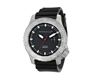 Часы для дайверов Momentum Torpedo Black сапфировое стекло, каучук