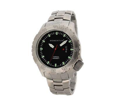 Часы для дайверов Momentum Torpedo Black сапфировое стекло, сталь