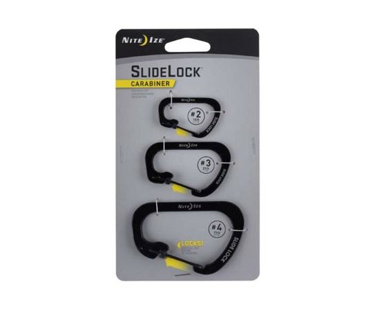 Набор карабинов Nite Ize SlideLock Carabiner 3Pack Black CSLC 01 R6