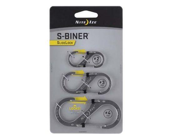 Набор карабинов Nite Ize S-Biner SlideLock 3Pack Stainless Steel LSBC 11 R6