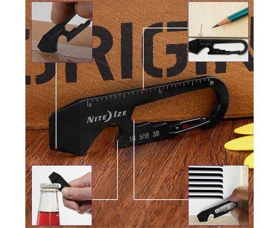 Мультитул брелок Nite Ize Doohickey Key Tool Black KMT 01 R3