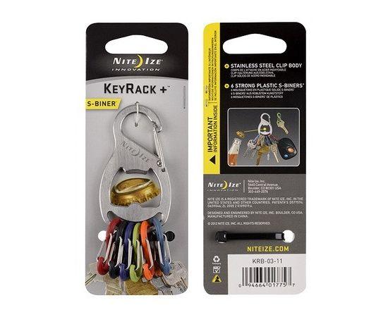 Набор карабинов Nite Ize S-Biner KeyRack+ Bottle Opener Stainless KRB 03 11