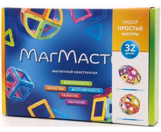 Магнитный конструктор МагМастер Простые фигуры 32 детали