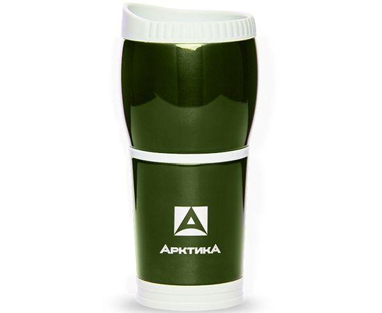 Термокружка без ручки Арктика для автомобиля, зеленая 807 400 G