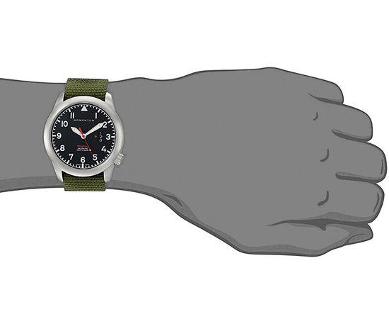 Часы Momentum Flatline Field, сапфир, нато зелёный на руке