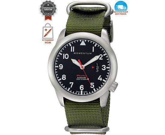 Часы Momentum Flatline Field, сапфир, нато зелёный