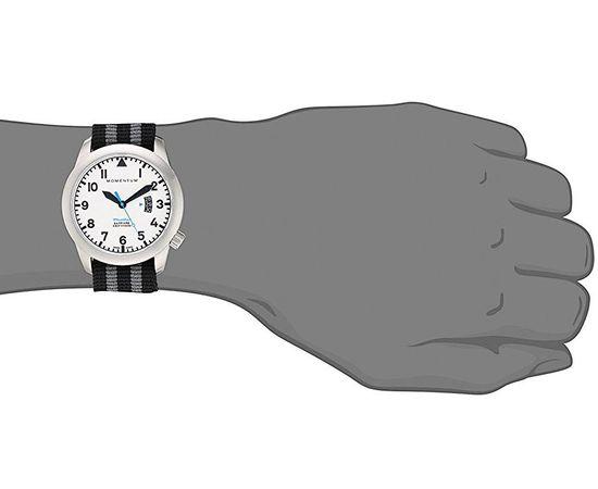 Часы Momentum Flatline Field Lum, сапфир, нато полосатый на руке