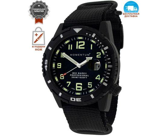 Дайверские часы Momentum M50 Mark II Black-Ion нато, сапфир