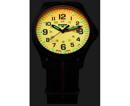 Часы Traser P67 Officer Pro GunMetal Orange со стальным браслетом