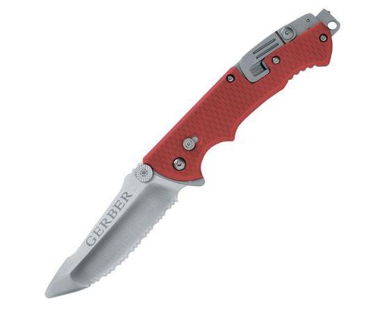 Складной нож Gerber Tactical Hinderer Rescue, красный