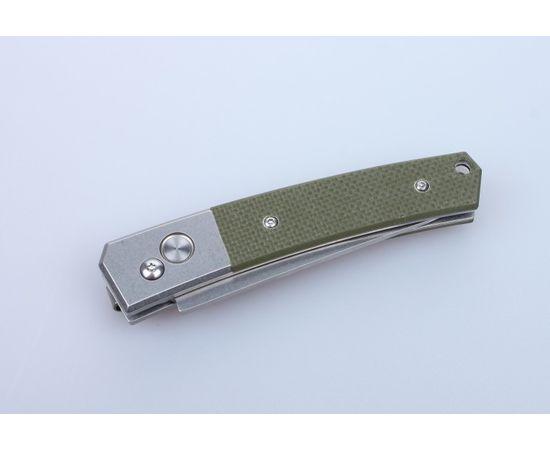 Складной нож c кнопкой Ganzo G7362 GR, зеленые накладки, сталь 440C