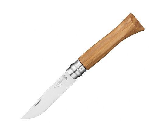 Складной нож Opinel №6, нержавеющая сталь, рукоять из оливкового дерева