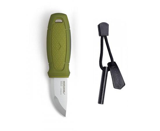 Нож Mora Morakniv Eldris зелёный, огниво, ножны, шнур, нержавеющая сталь