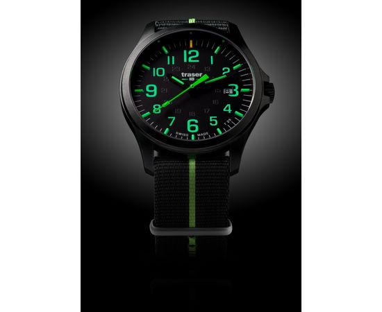 Часы, Traser, P67, Officer Pro, GunMetal, Black, Lime