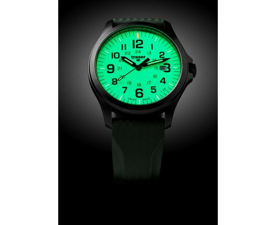 Часы Traser P67 Officer Pro GunMetal Lime