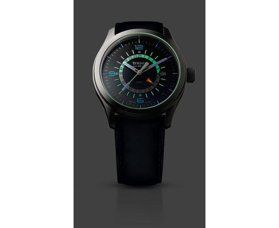 Часы Traser P59 Aurora GMT Silver, кожаный ремешок