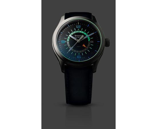 Мужские часы Traser P59 Aurora GMT Blue, кожаный ремешок.