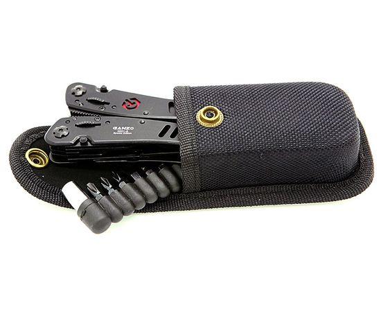 Мультитул инструмент Ganzo G301 B чёрный, биты, нейлоновый чехол