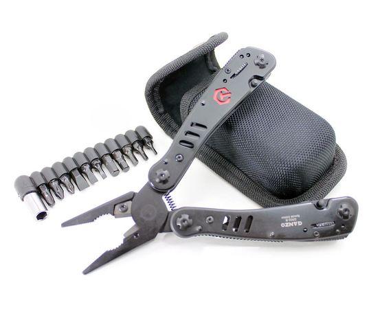 Мультитул инструмент Ganzo G302 B чёрный, биты, нейлоновый чехол