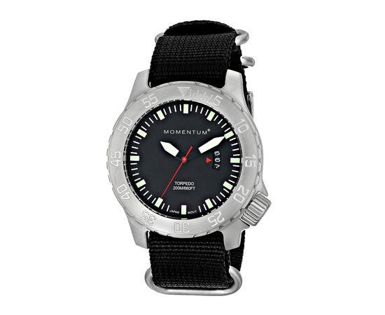 Часы для дайверов Momentum Torpedo Black сапфировое стекло, нато